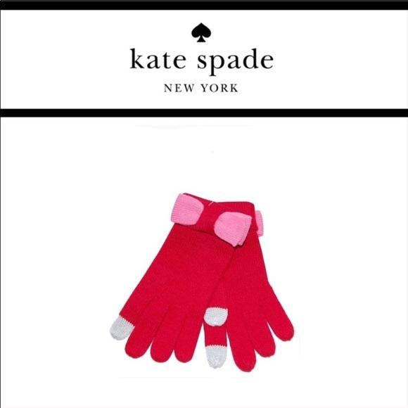 Kate Spade Colorblock Bow Tech Gloves